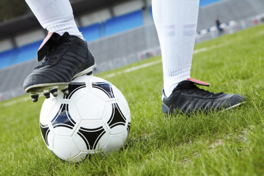 @Glowimages: Foot on ball